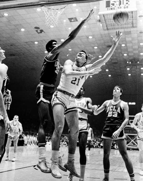 Don May Scores Over Lew Alcindor In The 1967 NCAA Championship Game